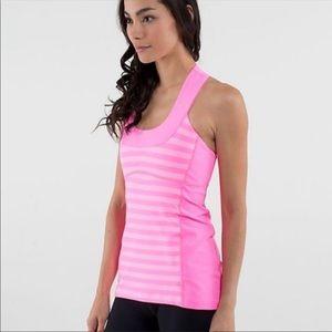 Pink lululemon scoop neck racer back t shirt